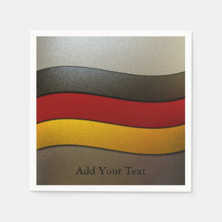 Germany Flag Colors-Chrome by Shirley Taylor Disposable Napkins