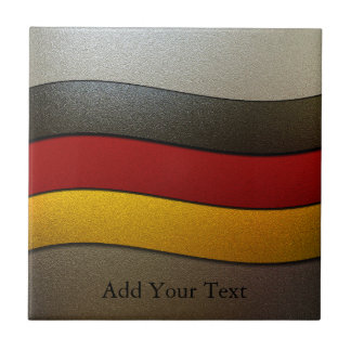 Germany Flag Colors-Chrome by Shirley Taylor Tile