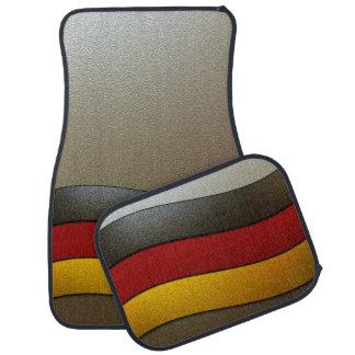 Germany Flag Colors-Chrome Car Mat