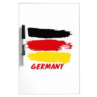 Germany flag designs dry erase board