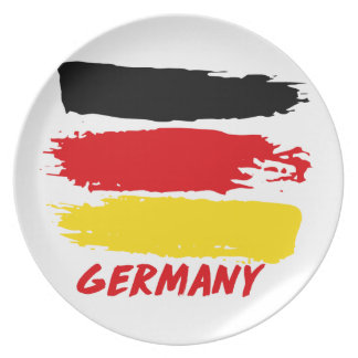 Germany flag designs party plate