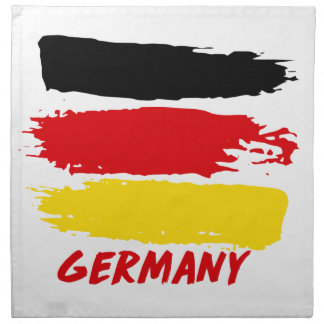 Germany flag designs printed napkin