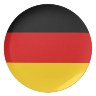 Germany Flag Dinner Plates