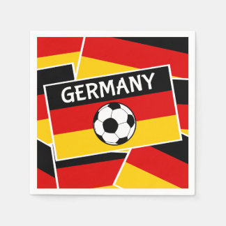 Germany Flag Football Disposable Napkins