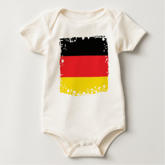 Germany Flag, German Colors Texture Baby Bodysuit