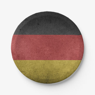 Germany Flag Grunge 7 Inch Paper Plate