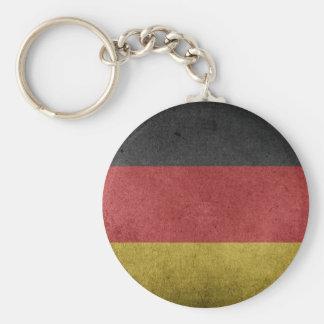 Germany Flag Grunge Basic Round Button Keychain