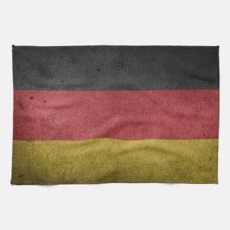 Germany Flag Grunge Hand Towels