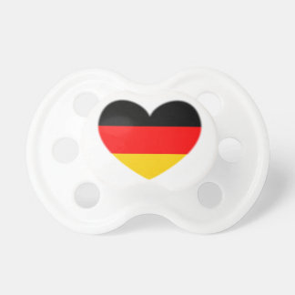 Germany Flag Heart Baby Pacifiers
