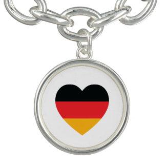 Germany Flag Heart Charm Bracelet