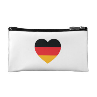 Germany Flag Heart Cosmetic Bag