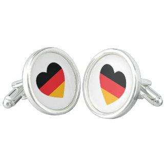 Germany Flag Heart Cufflinks