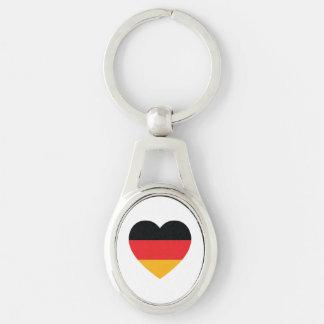 Germany Flag Heart Metal Keychain