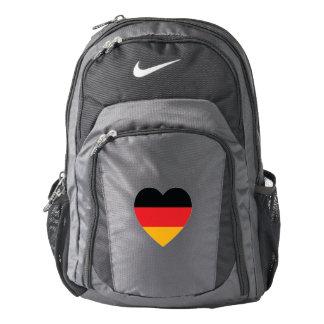 Germany Flag Heart Nike Backpack