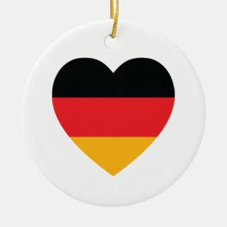 Germany Flag Heart Ornament