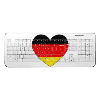 Germany Flag Heart Wireless Keyboard