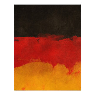 Germany Flag Home Country Black Red Gold Letterhead