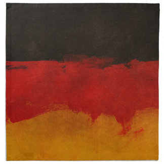 Germany Flag Home Country Black Red Gold Napkin