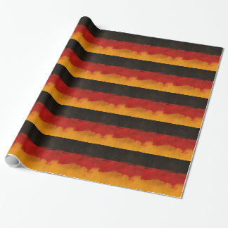 Germany Flag Home Country Black Red Gold Wrapping Paper