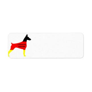 germany-flag in doberman pinscher siol w name