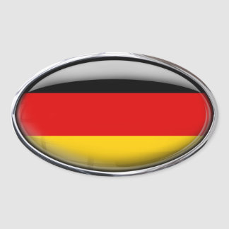 Germany Flag in Glass Oval (pack of 4) Oval Sticker