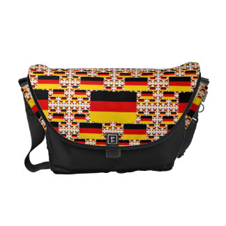 Germany Flag in Multiple Colorful Layers Messenger Bag