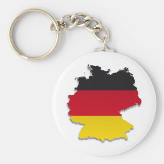 Germany Flag Map_2 Keychain