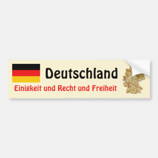 Germany Flag + Map Bumper Sticker