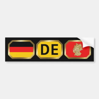 Germany Flag Map Code Bumper Sticker