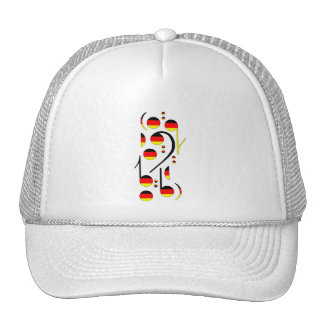 Germany Flag Musical Notes Trucker Hat