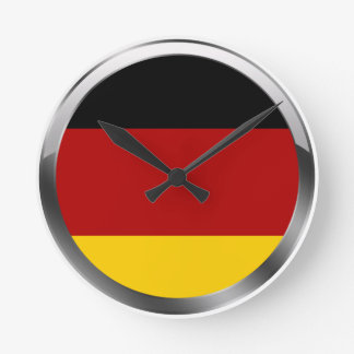 Germany Flag of germany Deutschland Flagge Round Clock