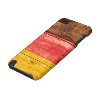 Germany Flag on Wood iPod Touch (5th Generation) Covers