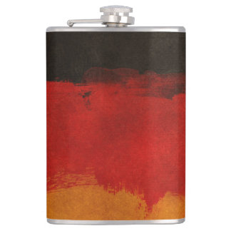 Germany Flag Paint Grunge Design Flasks