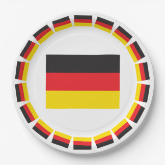 GERMANY FLAG PAPER PLATE