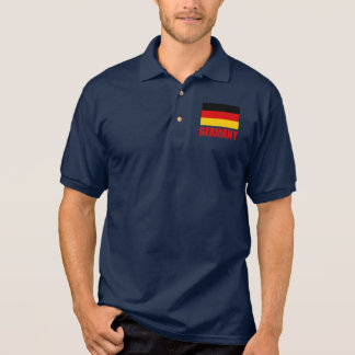 Germany Flag Red Text Polo Shirt