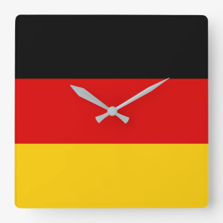 Germany Flag Square Wall Clock