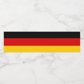 Germany Flag Water Bottle Label
