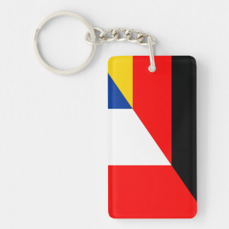 germany france flag country half symbol keychain