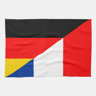 germany france flag country half symbol kitchen towel