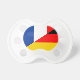 germany france flag country half symbol pacifier