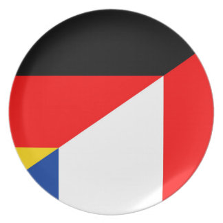 germany france flag country half symbol plate