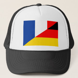 germany france flag country half symbol trucker hat