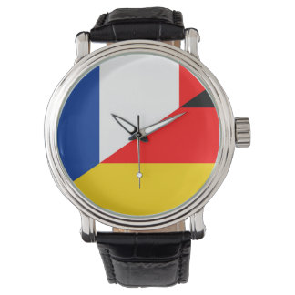 germany france flag country half symbol watch