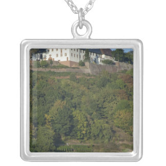 Germany, Franconia, Wertheim. Special hillside Square Pendant Necklace