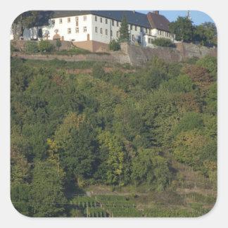 Germany, Franconia, Wertheim. Special hillside Square Sticker