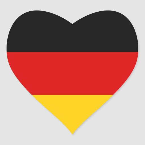 Germany – German National Flag Heart Stickers