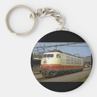 Germany, GFR (DB) electric_Trains of the World Basic Round Button Keychain