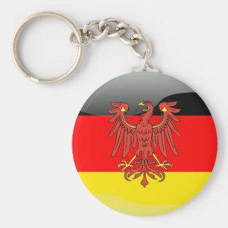 Germany glossy flag basic round button keychain