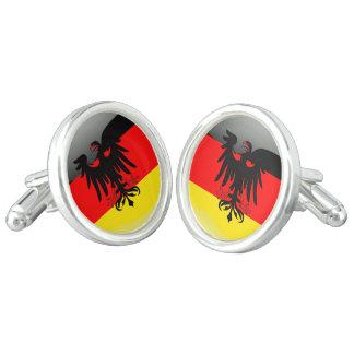 Germany glossy flag cufflinks