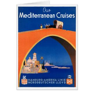 Germany Hamburg Vintage Travel Poster Restored Card